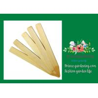 Vegetable Bamboo Garden Plant Markers , Natural Wood Garden Stakes Manufactures