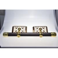 Wholesale Funeral Casket Parts Swing Bar Set ABS Materials With Steel Bar Gold Surface from china suppliers