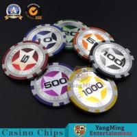 Buy cheap Gambling European Abs Casino Poker Chips 3-3.3MM Thinkness For Gift Entertainment Game product
