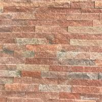 Buy cheap Peach Pink Quartzite Ledge Wall Stone Cladding For Fireplaces Or Planter Walls from wholesalers
