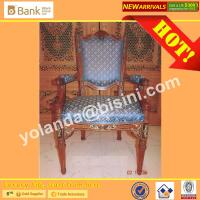 (BK0109-0015C) Imperial Blue Luxury Wood  Dining Chairs, European Style Antique Marquetry Royal Palace  Dining Furniture