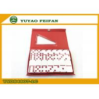 Buy cheap Red Dot Double 6 Dominoes Game Set Melamine Material 48 x 24 x 7mm from wholesalers