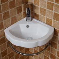 Buy cheap China Supplier bathroom small size sanitary ware good sales one piece wall hung hand basin triangle corner sinks from wholesalers