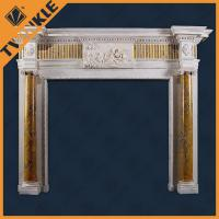 Buy cheap French Style Granite Decorative Fireplace Mantel / Elegant Fireplace Mantels from wholesalers