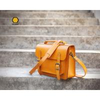 Buy cheap Yellow Oversized Handbags High Quality Handmade Leather Satchel Handbag from wholesalers