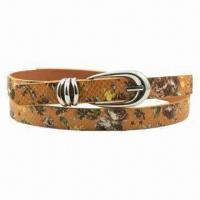Buy cheap Ladies' Fashionable Collection Belt with Chic Silver Buckle from wholesalers