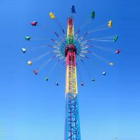 Buy cheap Thrilling Theme Park Sky Drop Ride , 60m Free Fall Ride 36 Riders from wholesalers