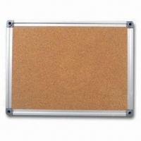 Wholesale Aluminum Frame Cork Board, Comes in Galvanized Steel Backside from china suppliers