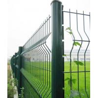 Buy cheap Green PVC Coated Airport Wire Mesh Fence With Razor Barbed Wire mesh fence from wholesalers