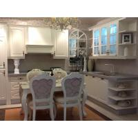 Buy cheap MDF Laminate Luxury Kitchen Cabinets Solid Wood Cupboard White For Dining Room from wholesalers