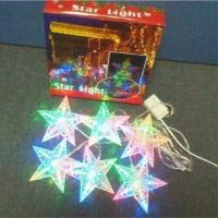 Buy cheap 6-piece Star LED Christmas Light, Customized Designs are Accepted from wholesalers