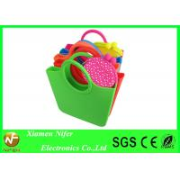 Buy cheap Small Beautiful beach bag Silicon Beach Bag with Handle , Jelly Tote Handbags from wholesalers