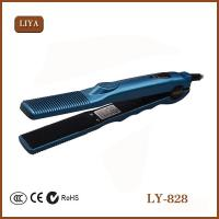 Buy cheap Titanium Ceramic Hair Straightener Flat Iron Professional Private Label Flat Iron from wholesalers