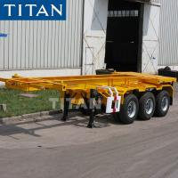 Buy cheap TITAN 20ft Container Skeleton/Skeletal Container Semi Trailer Chassis from wholesalers
