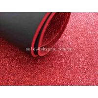 Buy cheap Glitter Colored Foam Sheets Black PU Embossed For Die Cut Making , Logo OEM from wholesalers