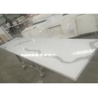 Buy cheap Solid Surface Calacatta Quartz Slab Countertops With White Vein OEM / ODM Avaliable from wholesalers