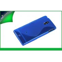 Buy cheap OEM Blue Cell Phone Sony Xperia P Cases , Durable S Shape TPU Case from wholesalers