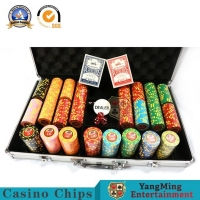 Buy cheap 600 Pieces 12g Iron Core Clay Poker Chip Set ABS Texas Hold'Em Digital Sticker Code from wholesalers