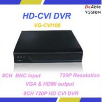 Buy cheap 8CH BNC input VGA & HDMI output Support Mobile Surveillance 720P HD CVI DVR from wholesalers