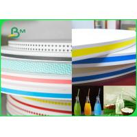 Buy cheap 15MM 60gsm Straw Wrapping Paper Roll With Striped Color Print Food Grade Fully Recyclable from wholesalers