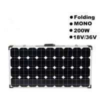 Wholesale 200W Caravan Foldable Solar Panel Black Frame 5% Electrical Parameter Tolerance from china suppliers