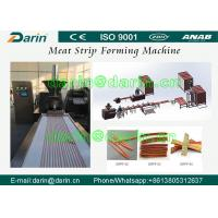 Stanless Steel 304 type Pet Food Manufacturing Equipment , Meat Strip Processing Line Manufactures