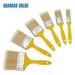 Buy cheap High quality paint flat brush plastic handle PET fibre bristles from wholesalers