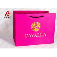 Wholesale Coated Paper Reusable Christmas Shopping Bags , Cotton Rope Paper Carrier Bags from china suppliers
