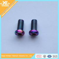 Buy cheap Anodized Colorful Titanium Alloy Hex Socket Pan Head Bolts from wholesalers