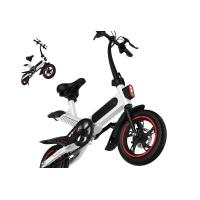 Buy cheap High Load Ability Small Folding Electric Bike White / Black / Red Ergonomics Design from wholesalers