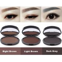 Buy cheap Natural Shape Brow Stamp Powder Portable Grey Brown Color 3 Years Guarantee from wholesalers