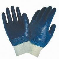 Buy cheap Nitrile-coated Working Gloves with Knit Wrist and Cotton Jersey Lining from wholesalers
