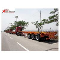 Buy cheap 65T Payload Tipping Skeletal Trailers , Q345B Steel Sliding Skeletal Trailer from wholesalers