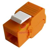 Buy cheap UTP Cat.6A Keystone Jack 180 Degree Orange Color   UL Listed factory of CAT.6A RJ45 UTP Toolless Keystone Jack from wholesalers
