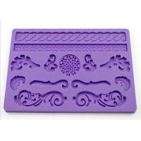 Buy cheap Gift Purple Silicone Dessert Molds , Rectangle Cake Molds For Kids from wholesalers