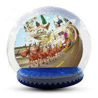 Wholesale Festival Decoration Airblown Inflatable Snow Globe Customized Logo from china suppliers