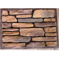 Thick  Cement Artificial Wall Stone For Outside Garden Steam - Cured