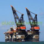 Buy cheap High Efficiency 60t Platform Lattice Boom Pedestal Cranes from wholesalers