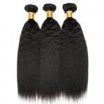 Buy cheap 3 Bundles Peruvian Human Hair Weave Kinky Straight Hair Customized Length from wholesalers