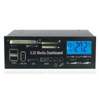Buy cheap 5.25 USB 2.0 internal card reader multi function LCD Media Dashboard Front Panel (525) from wholesalers