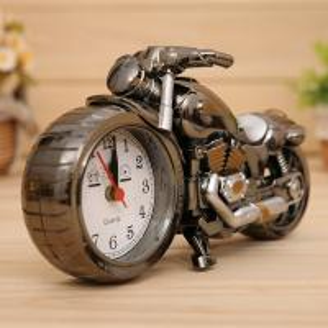 Wholesale Motorcycle creative alarm clock 23*13*6 cm plastic quartz movement clock cash sale,OEM welcome custom logo Possible from china suppliers