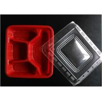 Red Disposable Plastic Trays Polypropylene Food Packaging For Storage Manufactures