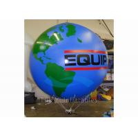 Buy cheap Logo Printing Globe Round Earth Advertising Balloon , Inflatable World Globe product
