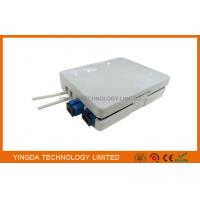 Buy cheap 2 Ports SC Adaptor Fiber Optic Termination Box, 2 Fibers FTTH Termination Box Wall Outlet from wholesalers