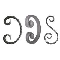 Buy cheap Iron Fence Ornamental Iron Parts Mild Steel Wrought Iron Forged Scrolls from wholesalers