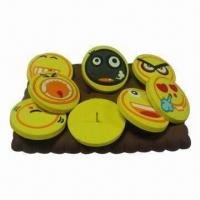 Wholesale Promotional Button Badge, Made of Soft PVC, OEM and ODM Orders Welcomed from china suppliers