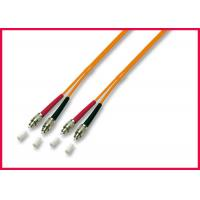 Buy cheap OFNR Multimode Duplex Fiber Optic Cable , Orange Fiber Optic Jumper Cables from wholesalers