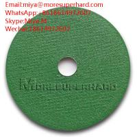 Buy cheap green cut off wheel , cutting disc for stainless steel, general steel miya@moresuperhard.com from wholesalers