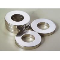 China Strong Permanent Ring Neodymium Magnet DC / Servo Motor Magnet With Nickel Coating on sale