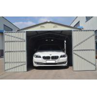 Buy cheap Silver White Modular Steel Garages Kits With Color-coated Steel Wall , Double Swing Door from wholesalers